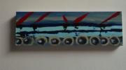 tableau marine art peinture couleurs mer : rouleaux de mer
