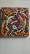 tableau abstrait art peinture couleurs abstrait : sucre coloré