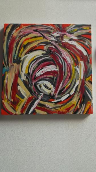 TABLEAU PEINTURE art peinture couleurs abstrait Abstrait Acrylique  - sucre coloré