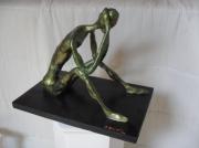 sculpture abstrait assis pensif : PENSIF