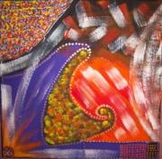 tableau abstrait : Le néant animé