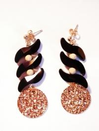 Boucles d'Oreilles en Swarovsky  et Gold Filled 18k