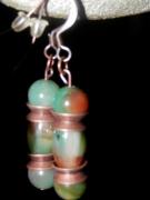 bijoux autres jaspe paon boucles d oreil : Boucles d'Oreilles en Jaspe Paon