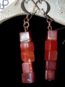 bijoux autres cornaline mineraux : Boucles d'Oreilles en Cornaline