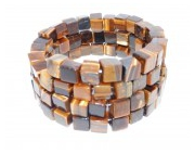 bijoux autres bracelet spirale oeil de tigre : Bracelet en Cube Oeil de Tigre