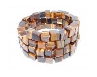 Bracelet en Cube Oeil de Tigre