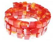 bijoux autres bracelet spirale cornaline : Bracelet en cornaline