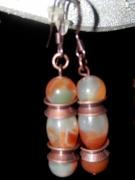 bijoux autres : Boucles d'Oreilles Jaspe Paon