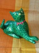 sculpture personnages chat sculpture grillage papier : Berlingo le chat