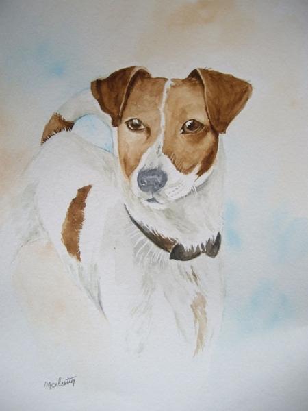 TABLEAU PEINTURE chien jack russel animaux anglais Animaux Aquarelle  - Jack Russel