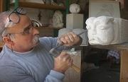 sculpture scene de genre : gargouille