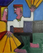tableau abstrait : Dancing Floor