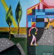 tableau abstrait : Le champs