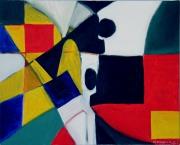 tableau abstrait : Cubic People