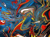 Abstrait Bleu Alu