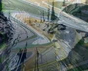 art numerique paysages abstrait numerique aluminium corse : Corsica