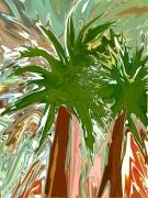 art numerique paysages nature numerique aluminium corse : Palmiers