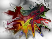 art numerique abstrait abstrait numerique aluminium corse : Abstrait Rouge Alu