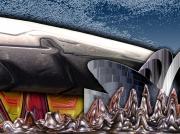 art numerique abstrait abstrait numerique aluminium corse : Maison du futur
