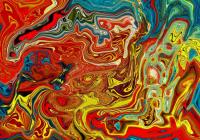 Abstrait Rouge/Jaune Alu
