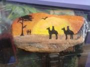 deco design paysages afrique couche de soleil paysage : paysage africain