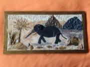 mixte paysages elephant paysage pierres ardoise : le chemin de l 'élephant