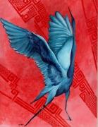 dessin animaux : Oiseau bleu