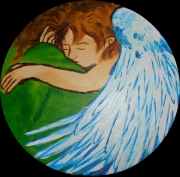 tableau personnages ange : ange endormi