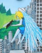 tableau personnages ange fourmi ville : ange et fourmi