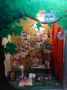 artisanat dart personnages alice merveille burton vitrine : Alice au Pays des Merveilles