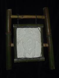 tortue et son cadre bambou