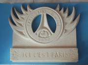 sculpture sport pierre psg : paris saint germain