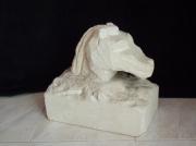 sculpture animaux : tête cheval