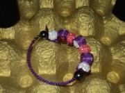 bijoux bracelet macrame rub : Bracelet Macramé Ruban Violet