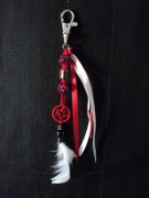 bijoux autres bijoux de sac dream : Bijoux de sac Dream rouge & blanc