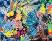 tableau marine poisson multicolore fond sous marin : KAIYŌ