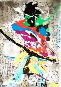 tableau abstrait abstractart outsiderart artcontemporain edwigecol : Arrow