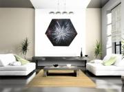 tableau abstrait tableau hexagonal moderne design effet vitree original : HEXA
