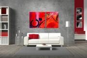 tableau tableau peinture moderne design effet vitree : LE JEU DE LA VIE