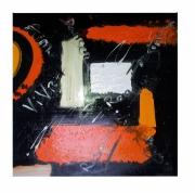 tableau abstrait tableau moderne grand format design : VIVRE