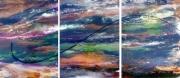 tableau abstrait tableau peinture moderne design tableau unique signe effet vitre : MAGIQUE
