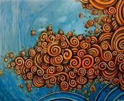 tableau abstrait spirale : spirale 2