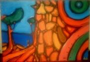 tableau paysages spirale sud bleu mer : paysage-2009