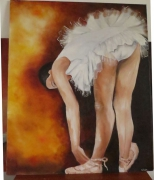 tableau personnages danseuse ballerine : Danseuse penchée