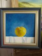 tableau fruits pomme nature morte huile fruits : Pomme à croquer