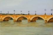 tableau paysages pont bordeaux : pont de pierre