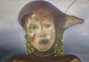 tableau personnages : jeune fille de la vallée de l' OMO'