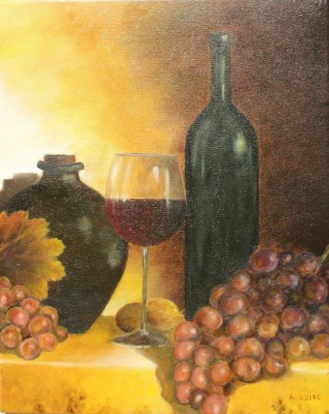 TABLEAU PEINTURE Nature morte Peinture a l'huile  - raisins