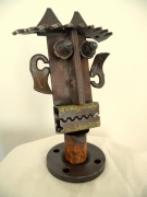 sculpture fleurs sculpture art brut idole : pomaré 1