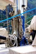 photo marine cordes bateau aluminium : Inextricable